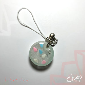 "Cloud ""Round"" Shaker Phone Strap"