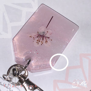Medium Gradient Pink Single Flower Charm