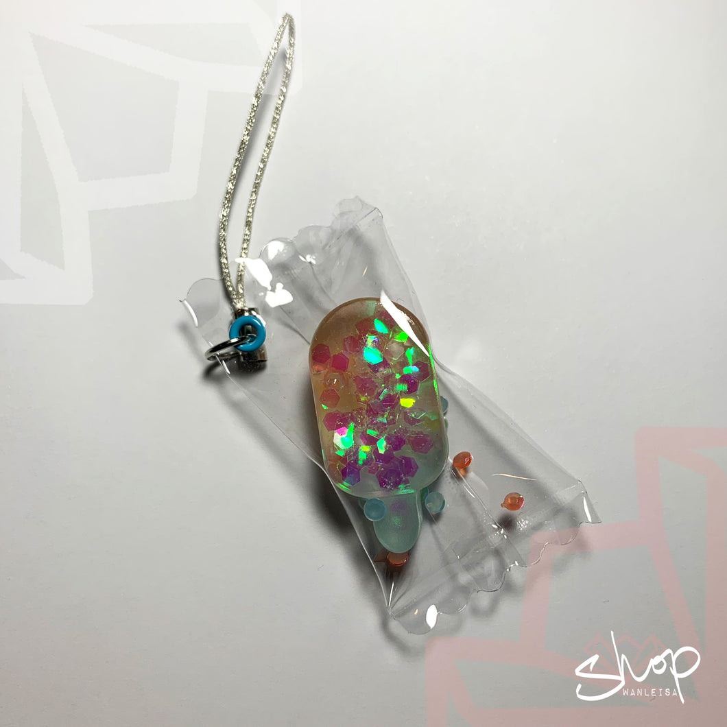 Sparkle Popsicle Candies Phone Strap