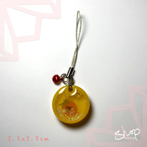 Strawberry Round Shaker Phone Strap