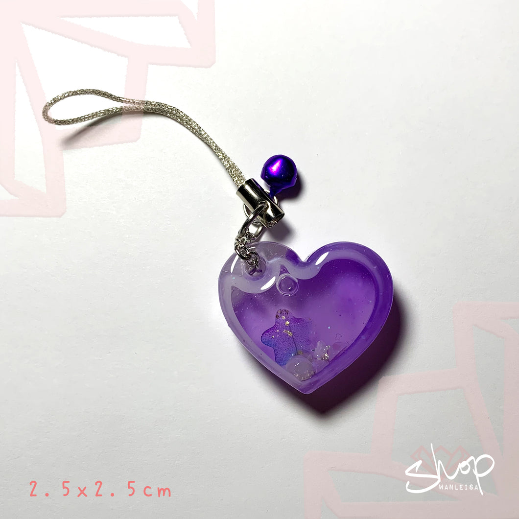 Purple Heart Shaker Phone Strap