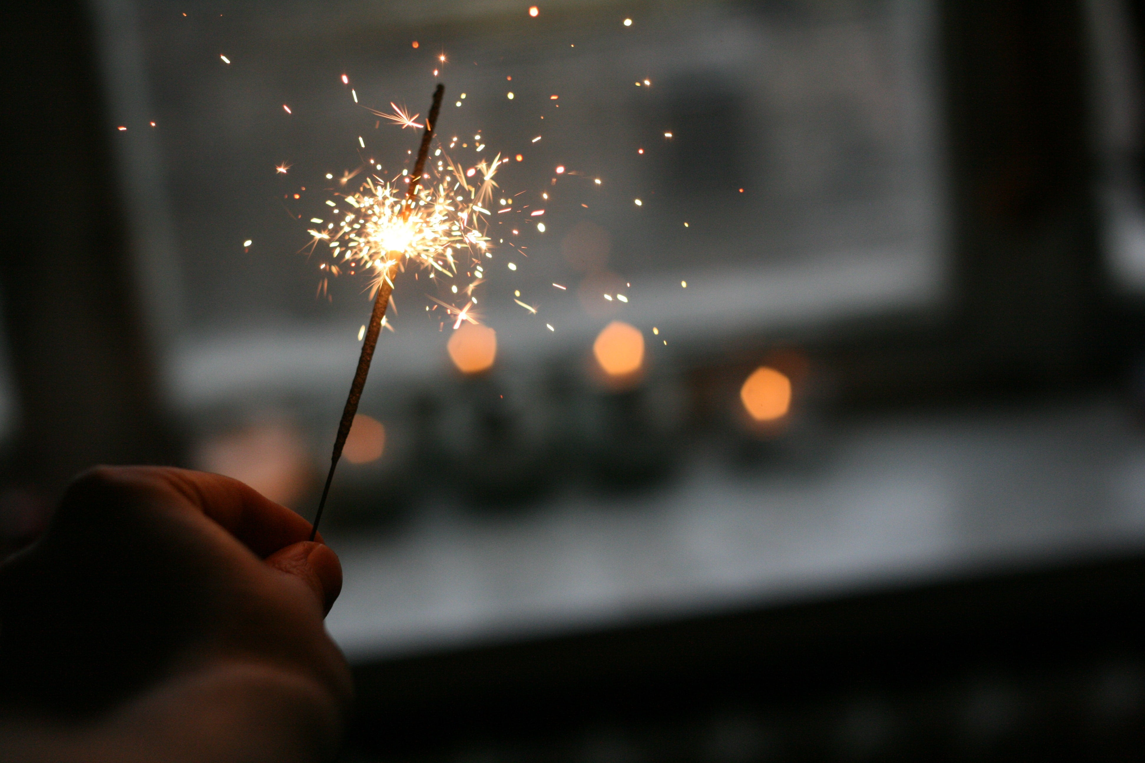 Sparklers to ring in the new year
