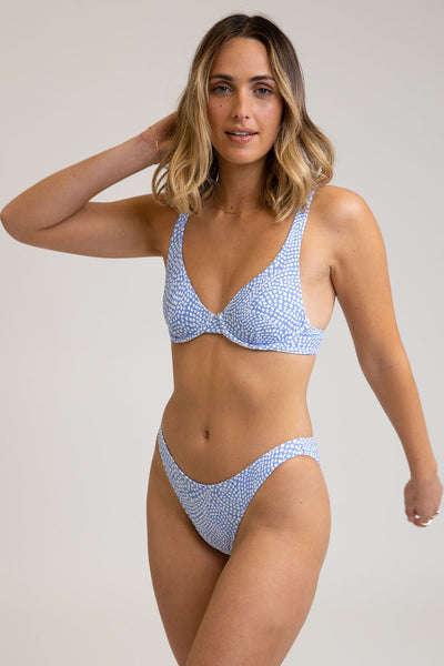 Mozambique Underwire Top Cornflower