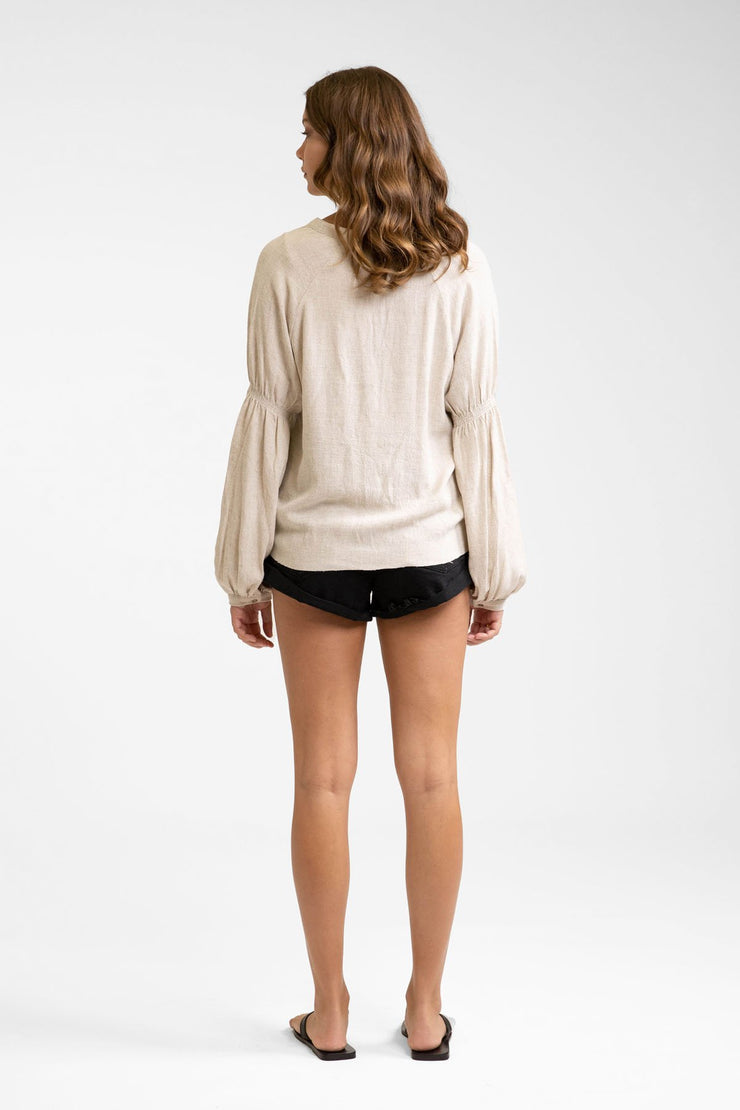 Vibes Long Sleeve Top Sand