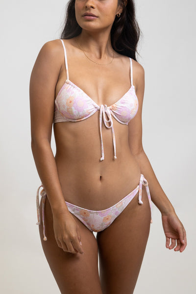 Melody Tie Front Underwire Top Rose