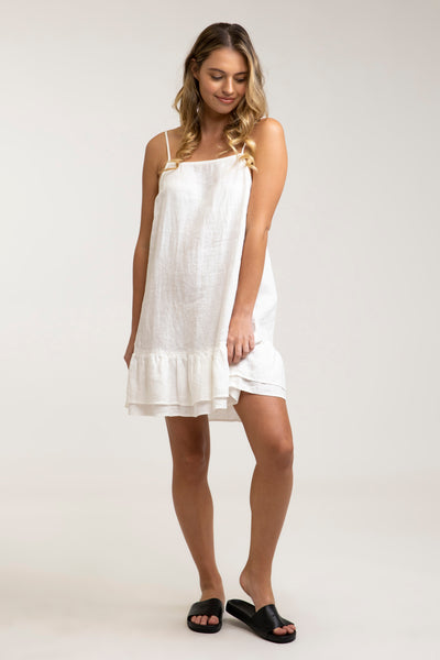 Isla Dress White