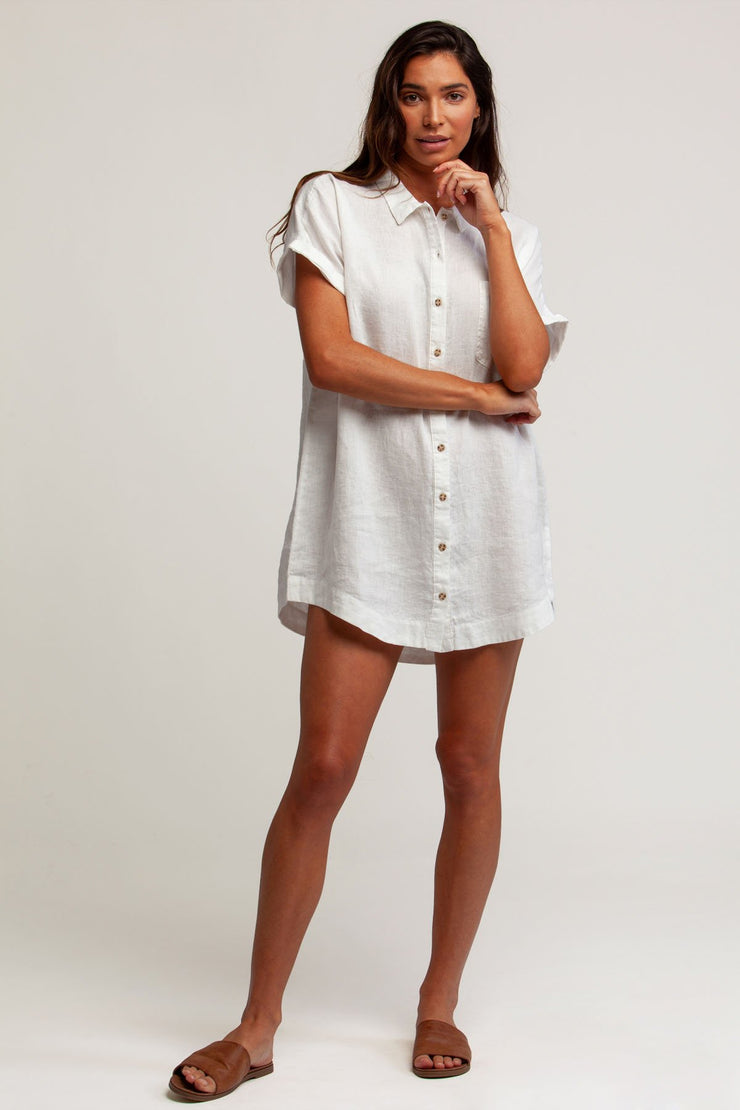 AMALFI DRESS WHITE
