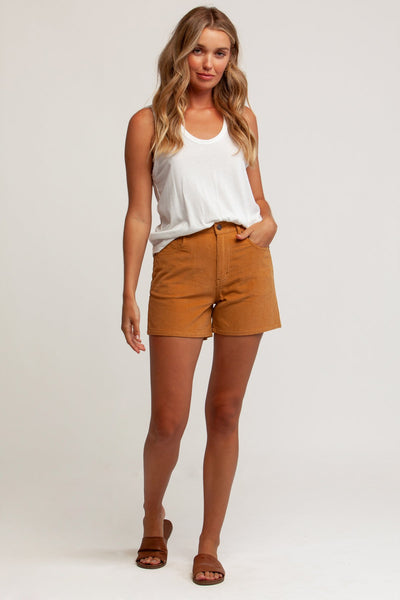 Huntington Corduroy Short Tan