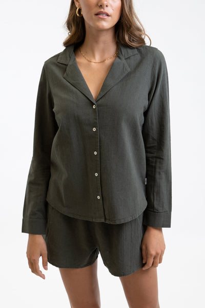 Classic Long Sleeve Shirt Olive