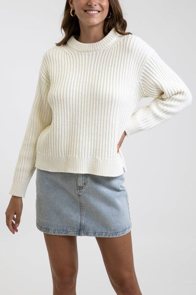 Classic Cable Knit Vintage White