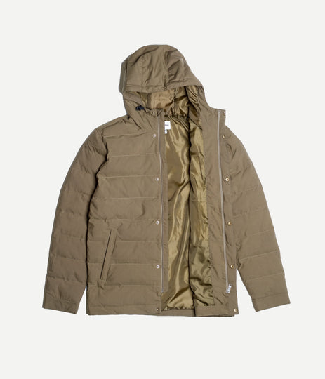 HOODED PUFF JACKET OLIVE
