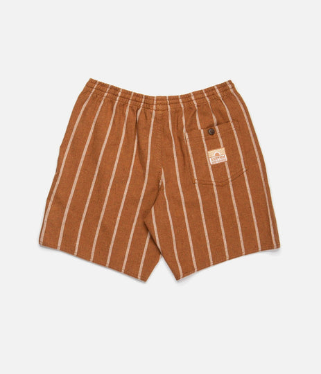 CLASSIC STRIPE BEACH SHORT ALMOND