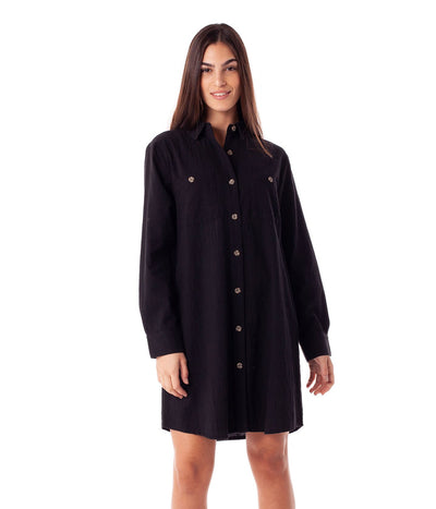 FIRST EDITION MAYA LONG SLEEVE DRESS BLACK