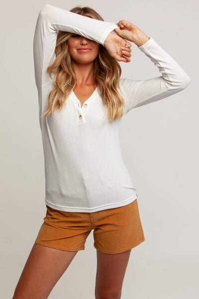 Elsa Long Sleeve Top White