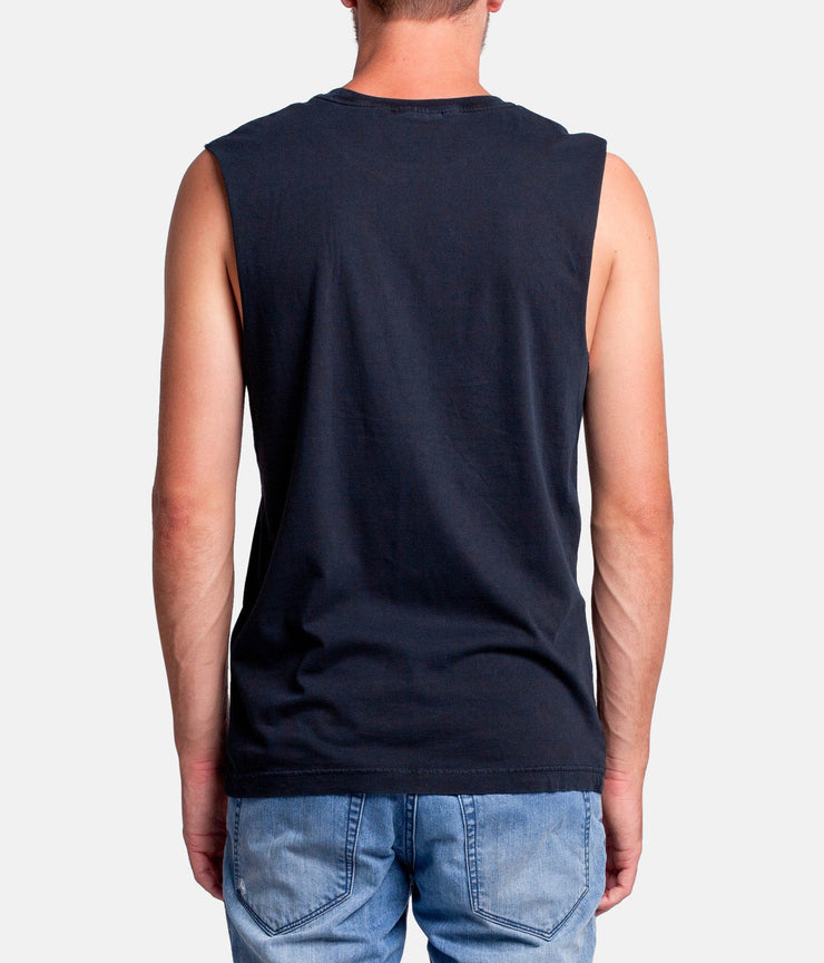 FLOW TANK  BLACK WASH