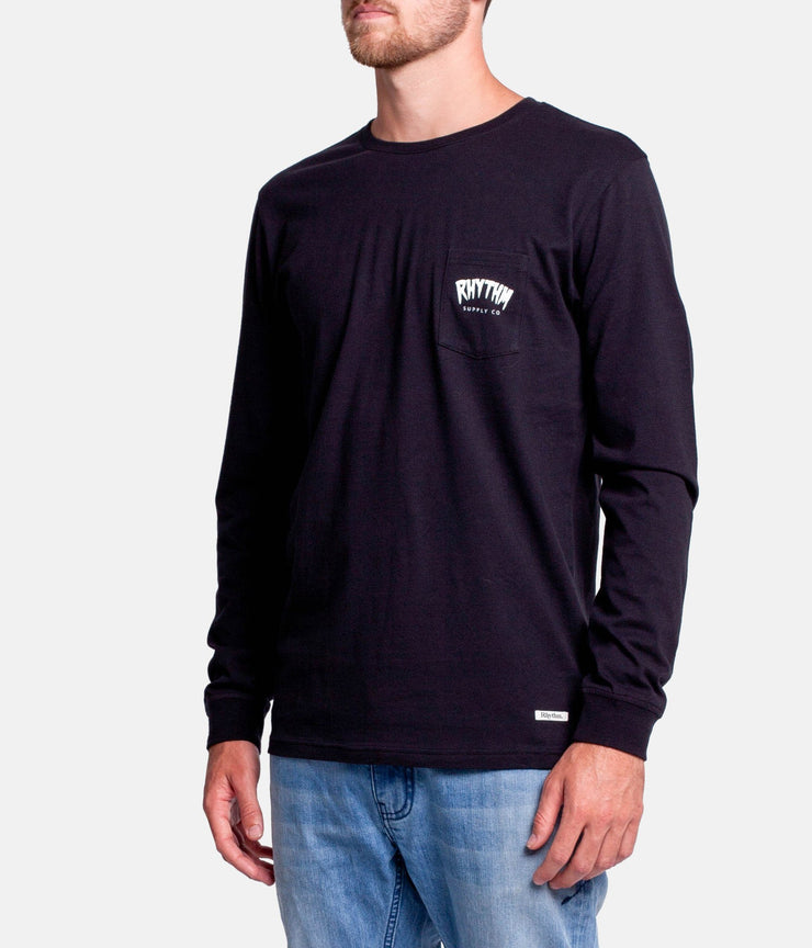 GOO BENDS LS T-SHIRT BLACK