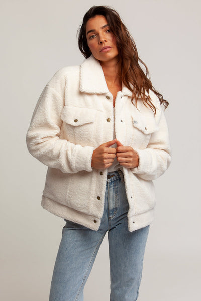 Harlow Oversized Teddy Jacket Cream