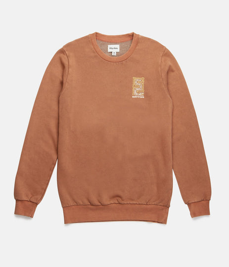 WASHED OUT PULLOVER WASHED CLAY