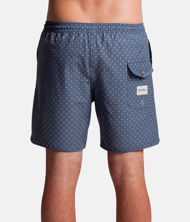 MINI TILE BEACH SHORT INDIGO