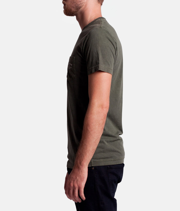 POCKET T-SHIRT OLIVE WASH