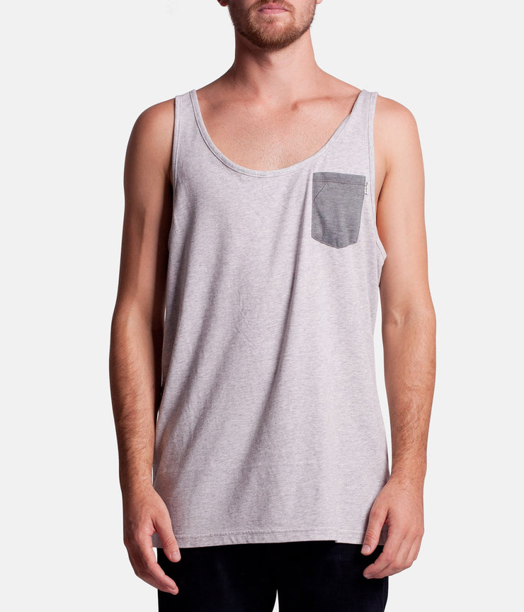MY EVERYDAY SINGLET GREY MARLE