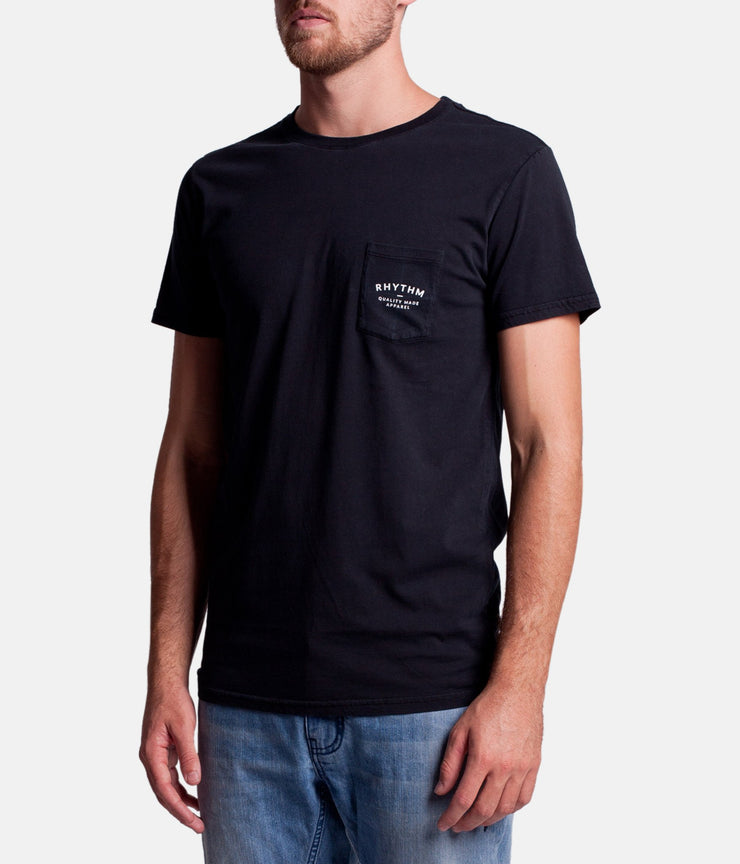 POCKET T-SHIRT BLACK WASH