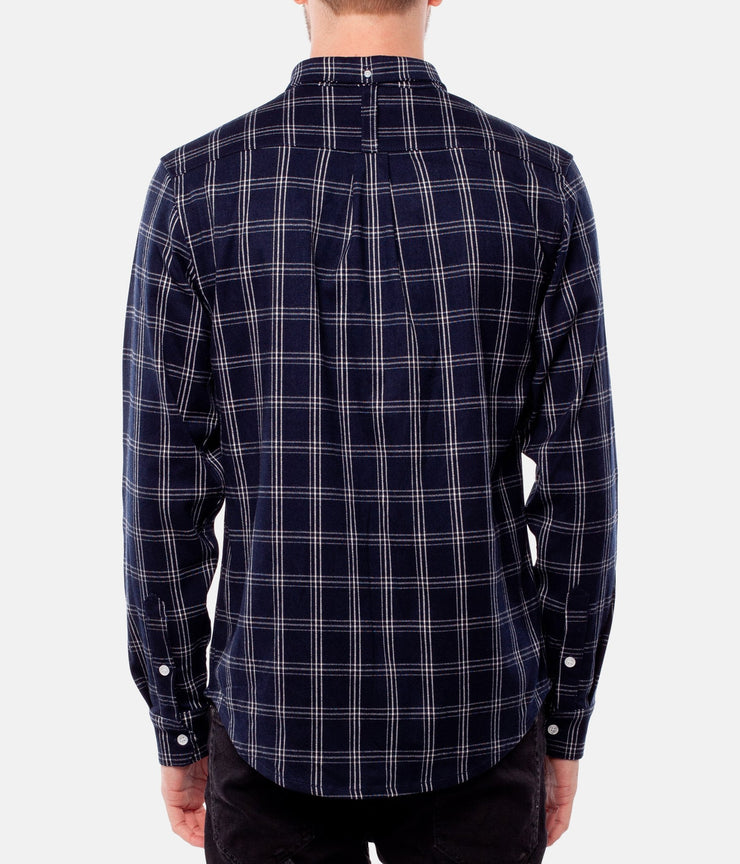 FLINDERS LS SHIRT NAVY