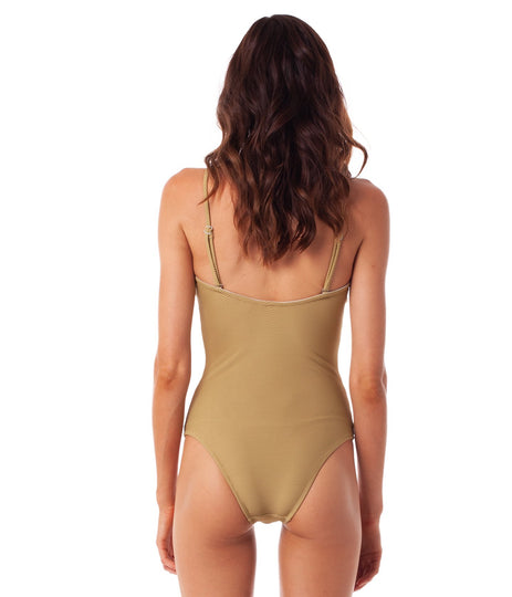 PALM SPRINGS BANDEAU ONE PIECE SAGE