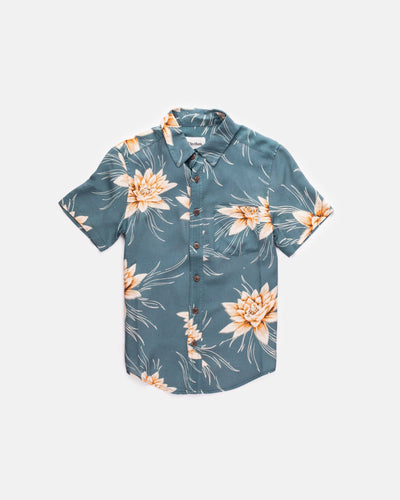 BOYS COLADA SS SHIRT TEAL