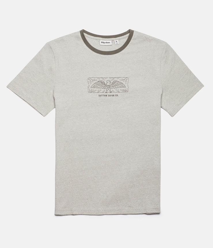 Rhythm Aviary T-Shirt Olive Front