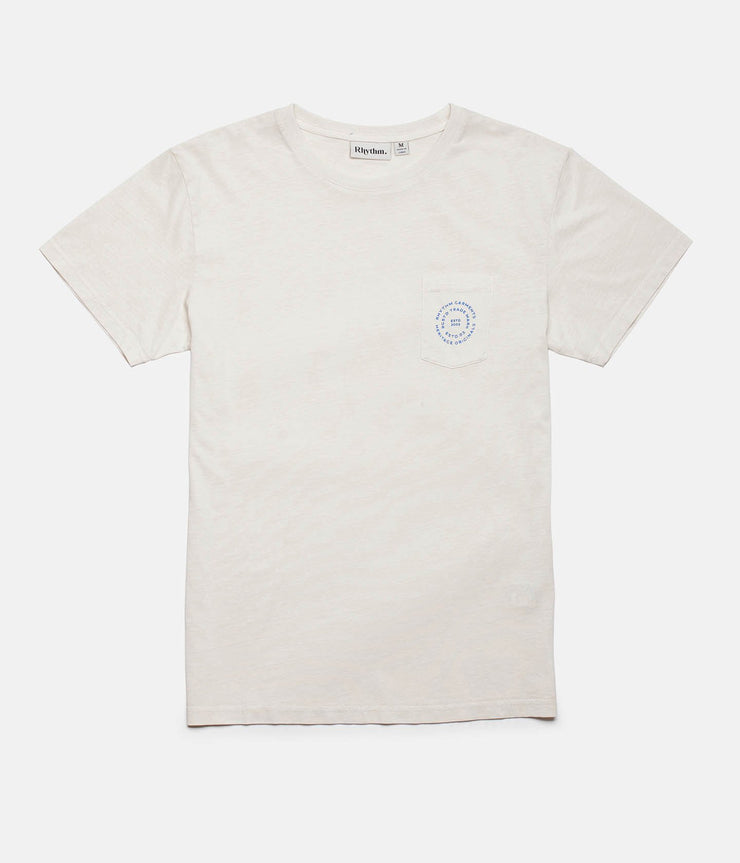 Rhythm Pocket T-Shirt Vintage White Front