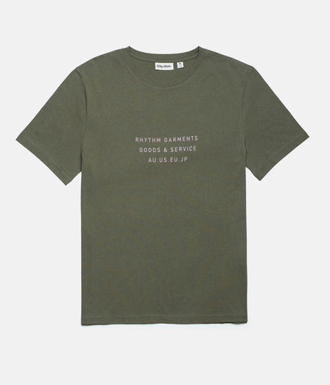 Rhythm Base T-Shirt Olive Front