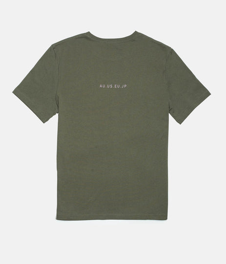 Rhythm Base T-Shirt Olive Back