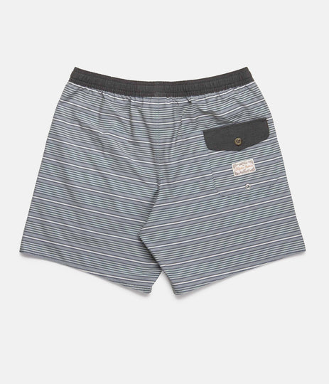 COASTAL STRIPE BEACH SHORT TEAL