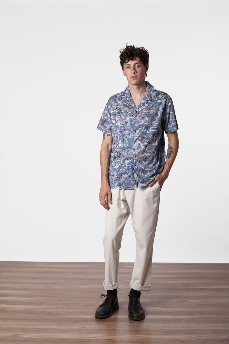 SUMATRA SS SHIRT PACIFIC BLUE