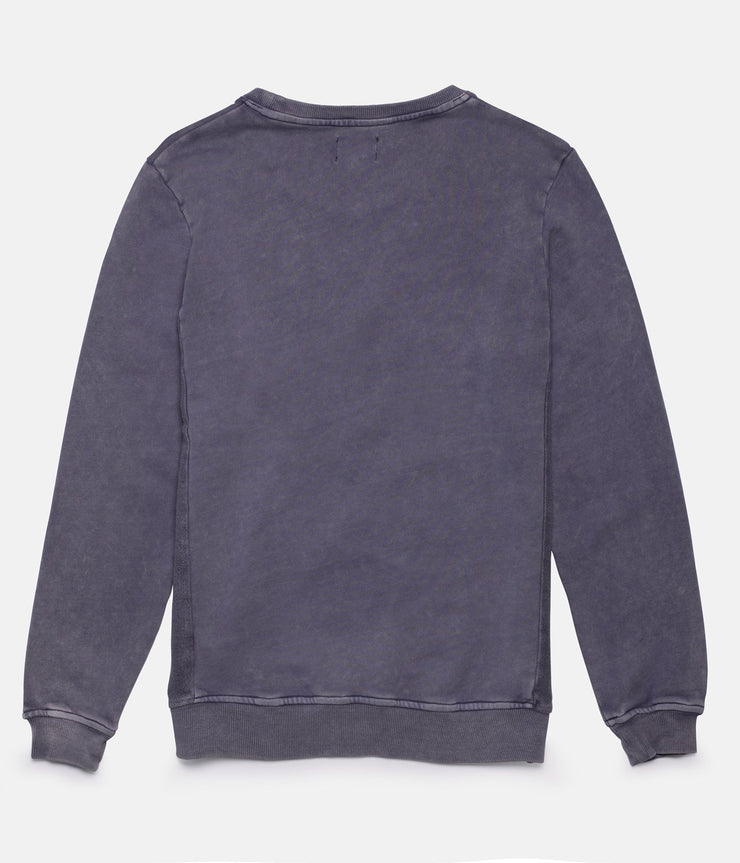 WASHED OUT PULLOVER DUSTED BLUE
