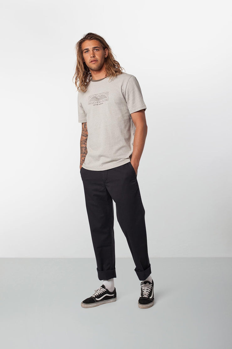 RHYTHM FATIGUE PANT BLACK MODEL BACK