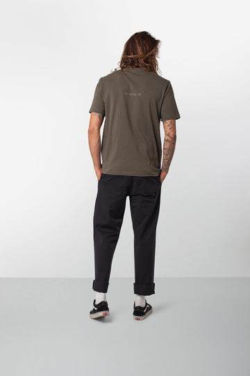 Rhythm Base T-Shirt Olive Model Back