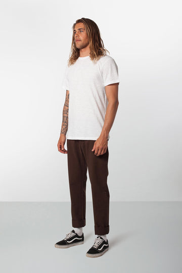 Rhythm Jean Pant Chocolate Model Front