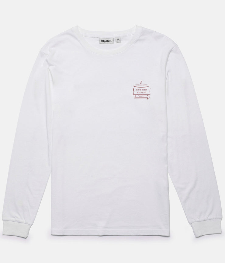 NO VACANCY LS T-SHIRT WHITE