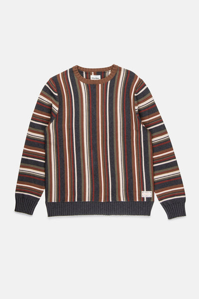 Vacation Stripe Knit Espresso