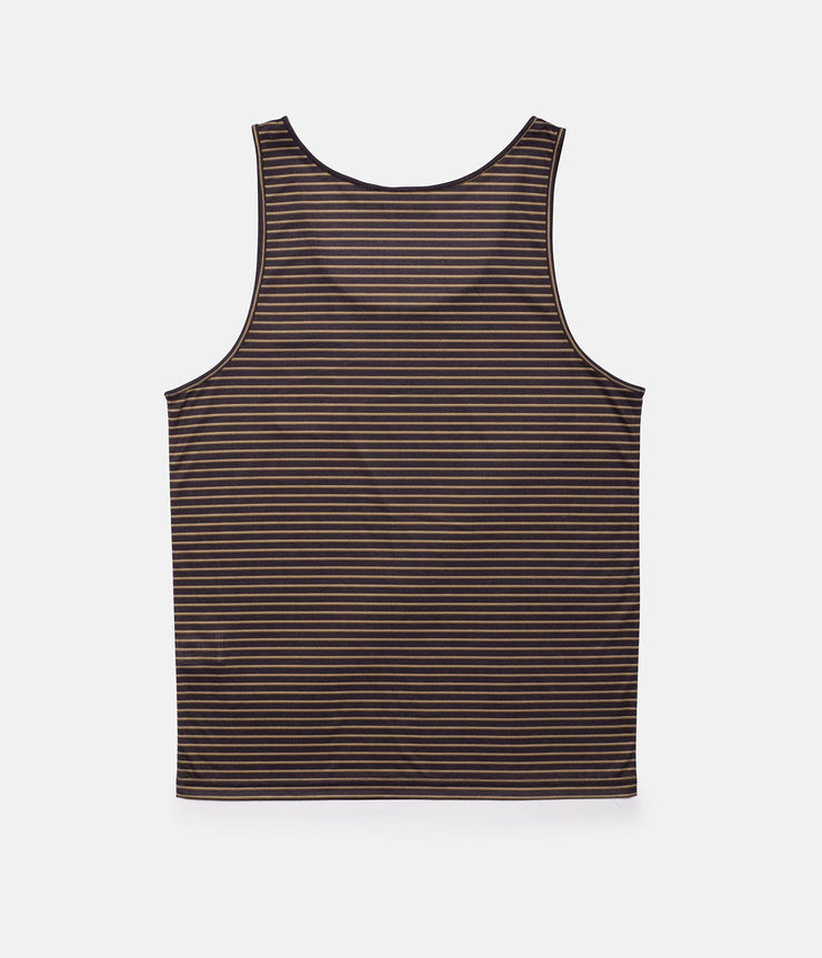 EVERYDAY STRIPE SINGLET CHARCOAL