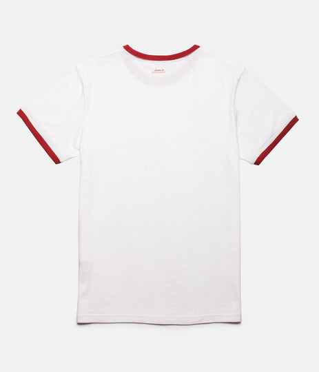 RHYTHM RINGER T-SHIRT WHITE / RED BACK