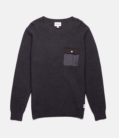 RHYTHM BUNKER KNIT BLACK FRONT