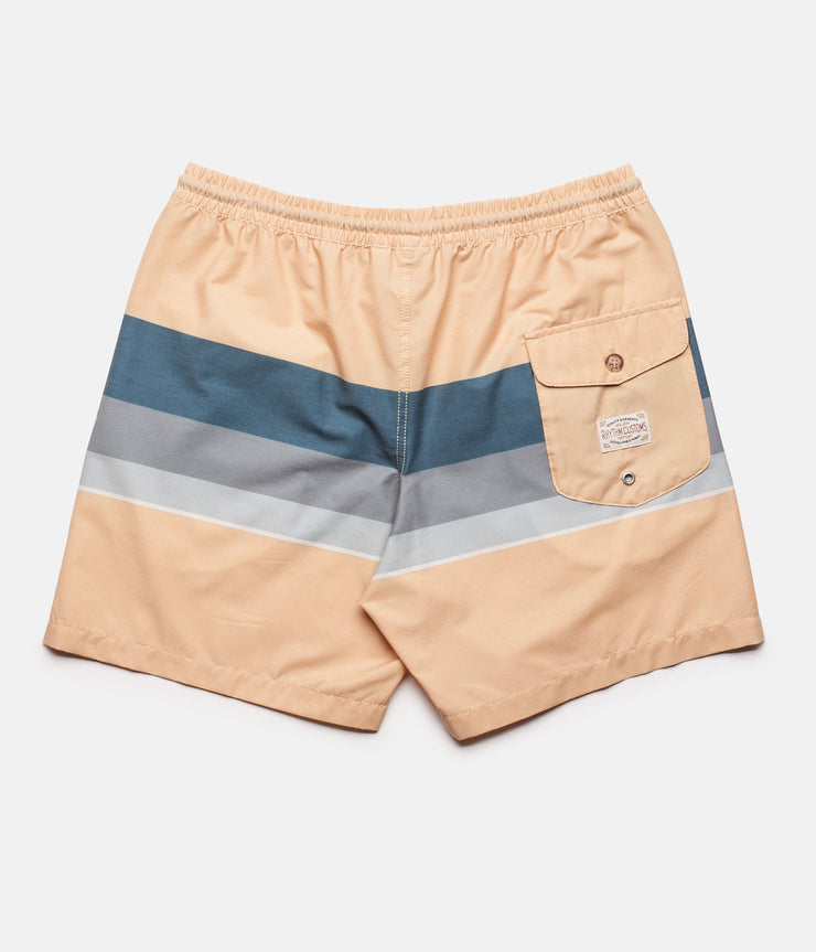 RHYTHM RETRO STRIPE BEACH SHORT PEACH BACK