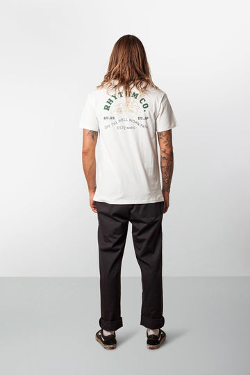RHYTHM CAMPER T-SHIRT WHITE MODEL BACK