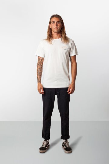 RHYTHM CAMPER T-SHIRT WHITE MODEL FRONT