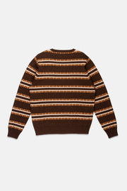 THE BUZZ STRIPE KNIT ESPRESSO