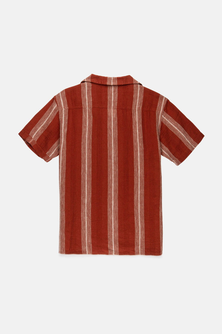 VACATION STRIPE SS SHIRT CLAY