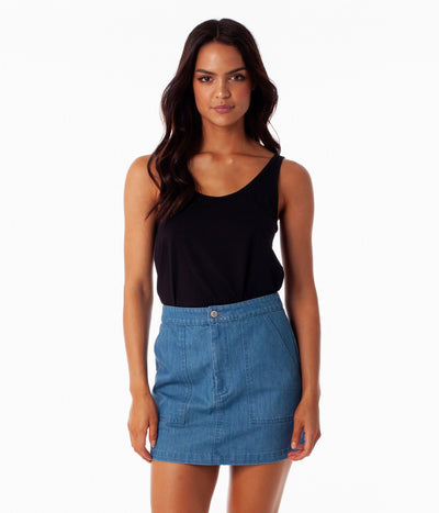 CHELSEA SKIRT DENIM